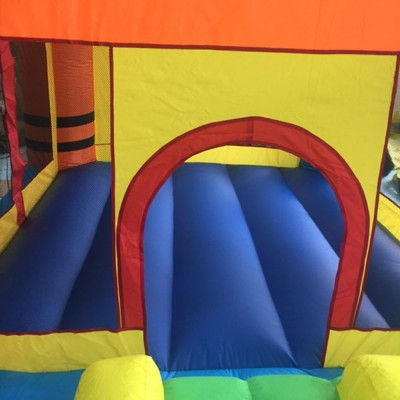 Zimtown Inflatable Crayon Bounce House Castle Jumper Moonwalk Bouncer With 480Watt Blower