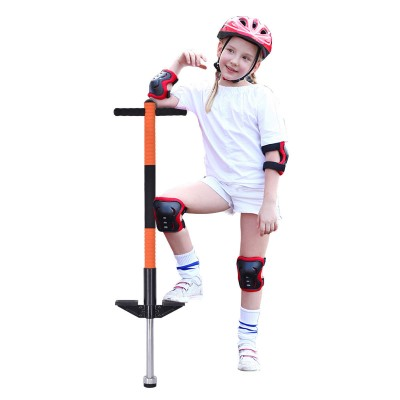 Gymax Padded Single Pogo Stick Jump Stick Children Balance Training Interior Spring