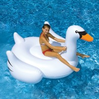 Swimline Giant Swan 75-in Inflatable Ride-On Pool Toy   551864898