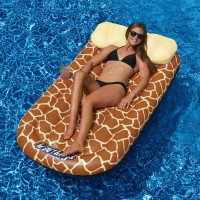 Swimline Wild Things Mattress for Swimming Pools, Zebra   564179237