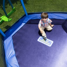 Bounce Pro My First Jump 7-Foot Trampoline and Swing, Blue/Green   556257908