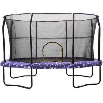 Jumpking Oval 8 x 12 Foot Trampoline, with Enclosure, American Pad