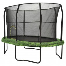 Jumpking Oval 8 x 12 Trampoline, with Enclosure, Green Graphic Pad