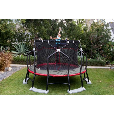 Monxter 14-Foot Titan XT7 Trampoline, with Water Anchors, Red (Box 1 of 5)