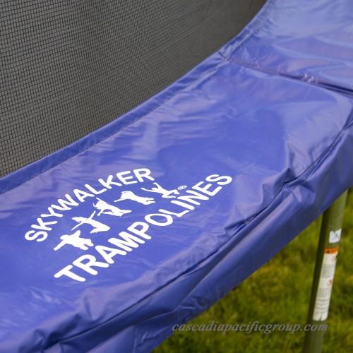 Skywalker Trampolines Oval 16-Foot Trampoline, Blue