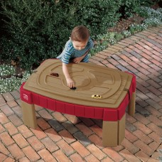 Step2 Naturally Playful Sand Table Includes cover, 2 shovels, 2 claw rakes, and a bucket   762683