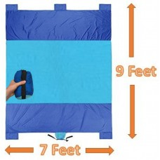 XXL Sand Proof Beach Blanket 9' x 7' with Parachute Nylon