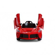 LaFerrari Licensed Power Ride On Ferrari Electric Car 12V For Kids wheel with Remote Control butterfly doors LED lights mp3 player - Red
