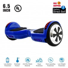 "Hoverboard UL2272 Certified 6.5"" Smart Self Balancing with Bluetooth Speaker and LED Lights (Blue)"