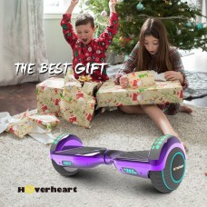 "UL2272 Certified Bluetooth 6.5"" Hoverboard Two Wheel Self Balancing Scooter Chrome Rainbow"
