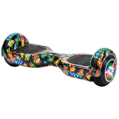XtremepowerUS Bluetooth Hoverboard w/Speaker Smart Self-Balancing Scooter 2 Wheels Electric Hoverboard UL Certified Matte White   570009743