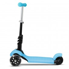 3-in-1 3-Wheel Scooter  LED Wheels  Kids Kick Scooter