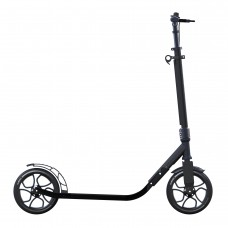 Globber Adult One Second Folding Adjustable Height Scooter with 230mm Wheels (Titanium/Blue)