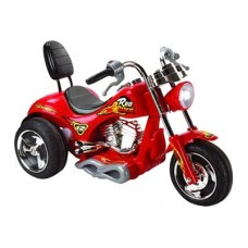 Mini Motos Red Hawk Motorcycle Battery Powered Riding Toy - Red
