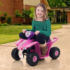 Rockin' Rollers Pink Princess Mini Quad Girls' 6-Volt Battery-Powered Ride-On   552021655