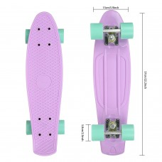 "22"" Skateboard for Boys and Girls High Bounce Complete Complete Deck Skateboard with 4 wheel RYSTE"