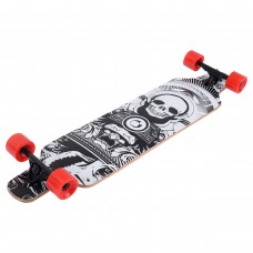 Costway 41''Maple Wood Deck Complete Skateboard Downhill Cruiser Longboard Wheels