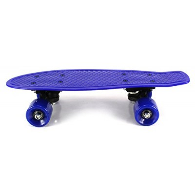 "Mini Smooth Ride Cruiser Complete 17"" Banana Skateboard w/ 54mm Wheels, ABEC-7 Bearings (Blue)   565495449"
