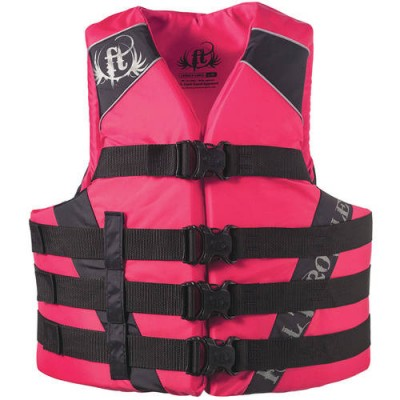 Full Throttle Adult Dual-Sized Nylon Watersports Vest, Pink   555246635