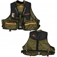 Stearns 33 Gram Manual Fishing Vest, Green, Nylon   570419829