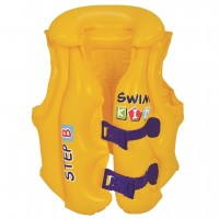 "Yellow Swim Kid ""Step B"" Inflatable Unisex Water or Swimming Pool Training Vest - Up to 66lbs"