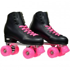 Epic Classic Black and Pink Quad Roller Skates   556059649