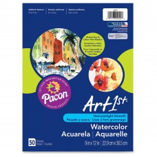 "Art1st Fine Art Watercolor Paper, White, 9"" x 12"", 50 Sheets   554244850"