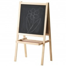 "2 X Ikea MÅLA Kids Children Drawing 59"" Reversible White/Black Board Softwood Easel"