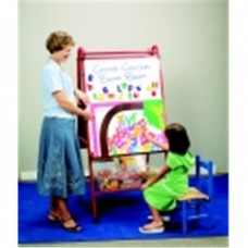 Childcraft Multi-Purpose Mobile Teaching Easel With Spacious Storage, 62 H x 30 W x 26 D in. - Metal