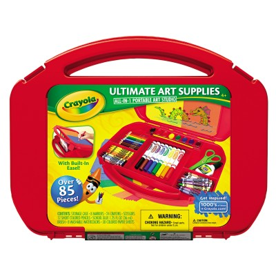 Crayola Ultimate Art Supplies and Easel with 85 Pieces, Ages 4 and Up   550780187