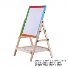 Creative Magnetic Blackboard Chalkboard Children Kid 2 In 1 Double Side Wooden Easel Chalk Board Drawing Board   568965082
