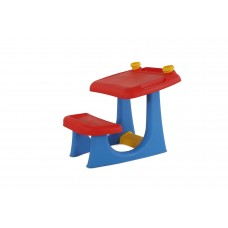 Keter Kids Sit and Draw Art Table Creativity Desk with Craft Storage and Removable Cups, Red/Blue   561087182