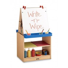 MapleWave 2-Station Kydz Easel w Erasable Whiteboards