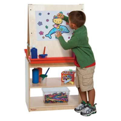 Wood Designs Childrens Art Center Easel for Two