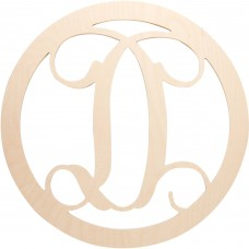 "18.5"" Circle Vine Monogram Wood Letter"