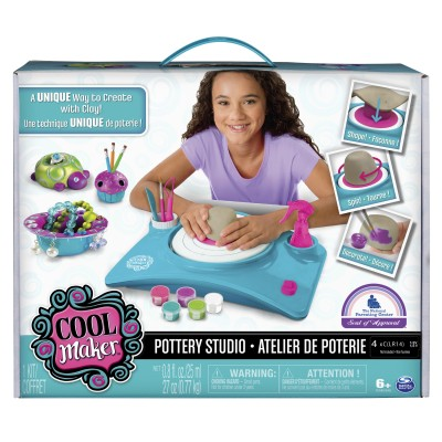 Cool Maker - Pottery Studio, Clay Pottery Wheel Craft Kit for Kids Age 6 and Up (Edition May Vary)   555378979