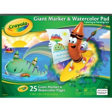 Crayola Heavy Weight Watercolor Pad, 16 X 12 in, 25 Sheets, White   551908028