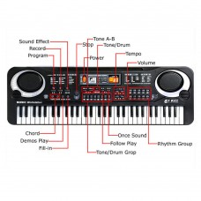 61 Key Musical Kids Electronic Keyboard, Electronic Keyboard For Kids, Children Electronic Keyboard Piano Electric Organ With Microphone