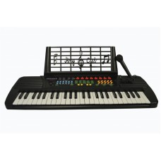 Child's Toy 49 Key Electronic Keyboard Piano - Black