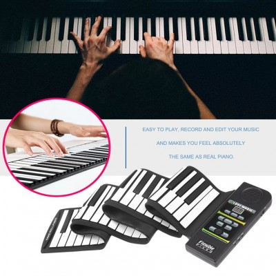 Hand Roll Up Electronic Piano Pad Portable 88 Key Electronic Piano Keyboard   570013560