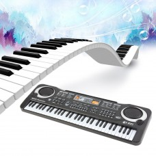 Portable 61 Key Multi-function Electronic Organ Music Piano Keyboard Organ Musical Teaching Keyboard Toy With Microphone for Kids   568970890