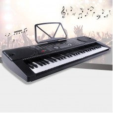 Uenjoy 61 Key Music Electronic Keyboard Electric Digital Piano Organ w/Power Supply /Microphone ,Black