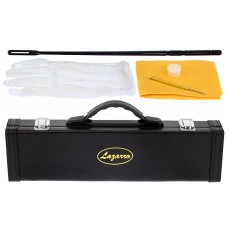 Lazarro 120-GR Professional Green-Silver Closed Hole C Flute with Case, Care Kit-Great for Band, Orchestra,Schools