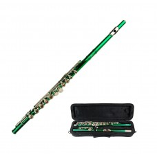 Merano Green Flute with Case   563036513