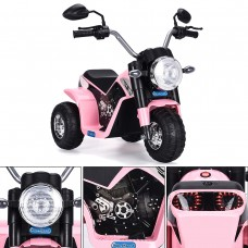 6V Kids Ride On Motorcycle Toy Battery Powered Electric 3 Wheel Bicycle Pink