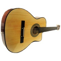 Full Size Acoustic Country/Bluegrass Cutaway Guitar with Gig Bag - Natural