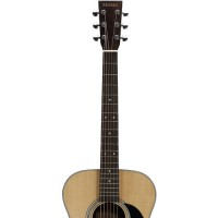 Sigma Guitars Solid A Grade Sitka Spruce Top Acoustic Folk Guitar with ChromaCast Hard Case and Accessories   556555337