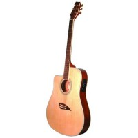 SCY K2LN Kona Thin Electric Acoustic Left Guitars - Natural
