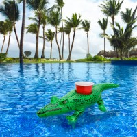 GoFloats Inflatable Gator Drink Holder, 3-Pack, Float your drinks in style   556078960