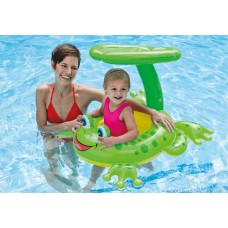 Intex Froggy Friend Shaded Canopy Baby Kiddie Pool Floating Raft | 56584EP   557217113